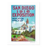 San Diego International Exposition Poster Postcard