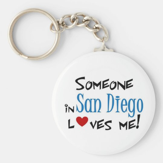 San Diego Love Basic Round Button Key Ring