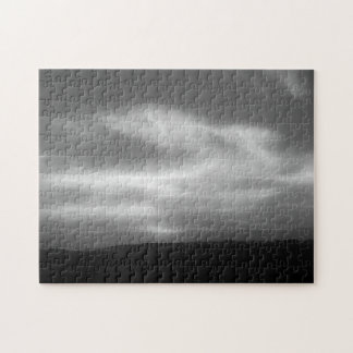 San Diego Moody Black and White Sunset Jigsaw Puzzle