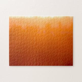 San Diego Moody Orange Impressionist Sunset Jigsaw Puzzle