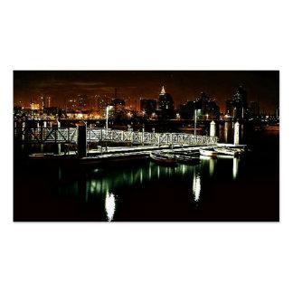 San Diego Night Skyline Pack Of Standard Business Cards