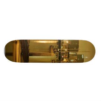 San Diego Sailboats Piers Night 21.6 Cm Skateboard Deck