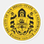 San Diego Seal Round Sticker
