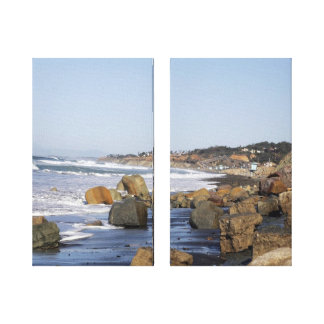 San Diego Shoreline on 2-panel stretched canvas Canvas Print