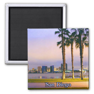 San Diego Shoreline Square Magnet