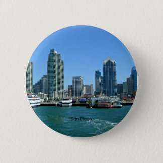 San Diego Skyline 6 Cm Round Badge