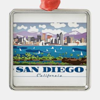 San Diego Skyline Christmas Ornament
