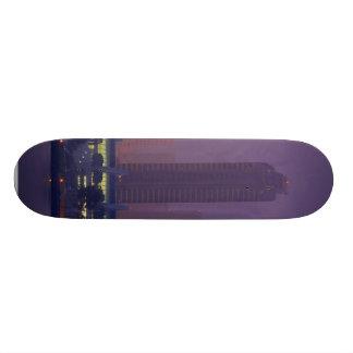 San Diego Skyline City Cities Fog Morning Skateboard