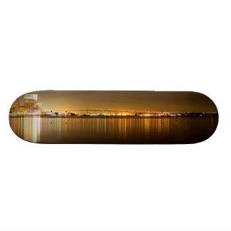 San Diego Skyline Night 20.6 Cm Skateboard Deck