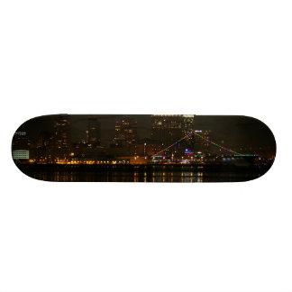 San Diego Skyline Night Custom Skate Board