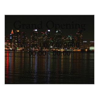 San Diego Skyline Night Full Color Flyer