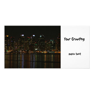 San Diego Skyline Night Picture Card