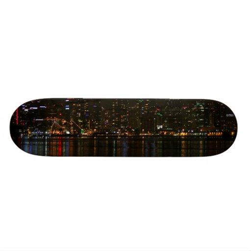 San Diego Skyline Night Custom Skateboard