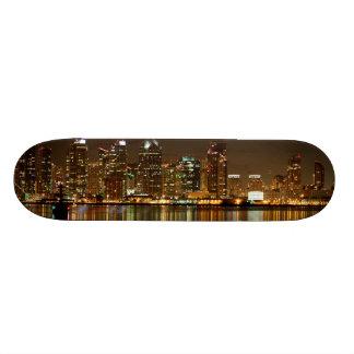 San Diego Skyline Night Skateboard Decks