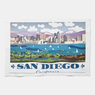 San Diego Skyline Tea Towel