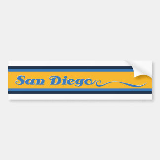 San Diego Stripe Bumper Sticker