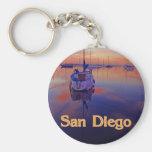 San Diego Sunrise Keychain