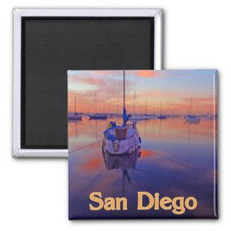 San Diego Sunrise Square Magnet