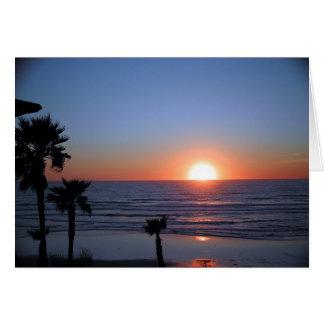 San Diego Sunset at Pacific Beach 2 Card