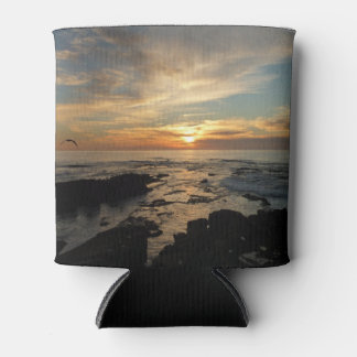 San Diego Sunset I California Seascape Can Cooler