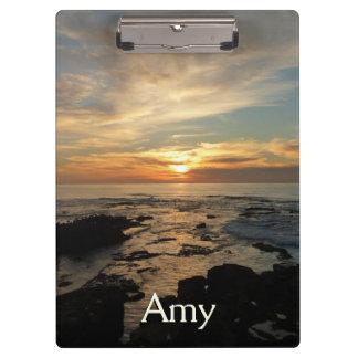 San Diego Sunset I California Seascape Clipboard