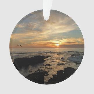 San Diego Sunset I California Seascape Ornament