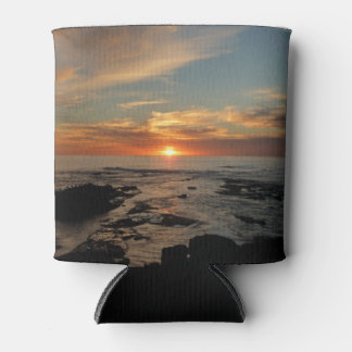 San Diego Sunset II California Seascape Can Cooler