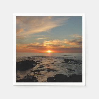 San Diego Sunset II California Seascape Disposable Serviette