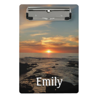 San Diego Sunset II California Seascape Mini Clipboard