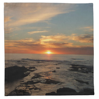 San Diego Sunset II California Seascape Napkin