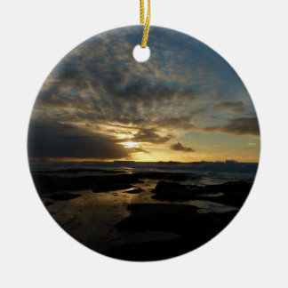 San Diego Sunset III Stunning California Landscape Christmas Ornament