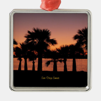 San Diego Sunset - Palm Trees Christmas Ornament
