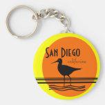 San Diego-Sunset Souvenir Basic Round Button Key Ring