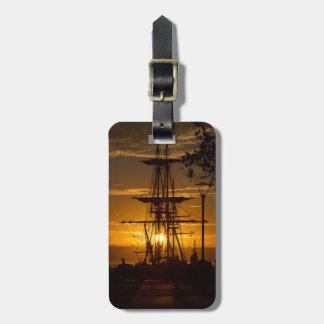 San Diego Tall Sailing Ship at Sunset Luggage Tag