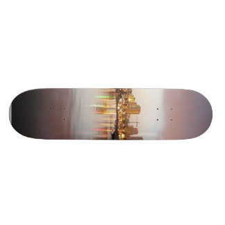 San Diego Water Bays Lights City Sunrise Skate Boards