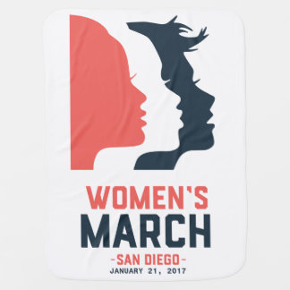 San Diego Women's March Baby Blanket