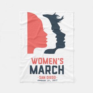 San Diego Women's March Fleece Blanket