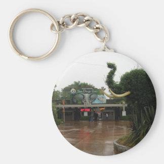 San Diego Zoo Basic Round Button Key Ring