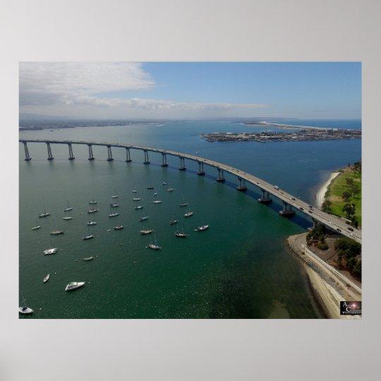 San Diego's Coronado Bay Bridge Poster