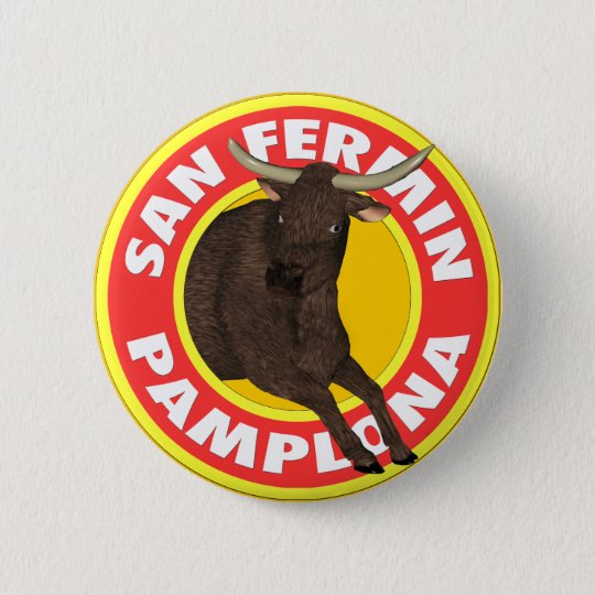 San Fermin de Pamplona 6 Cm Round Badge