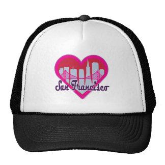 San Fran Skyline Heart Trucker Hat