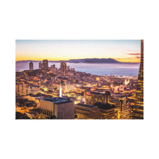 San Fran Sunset Canvas Print