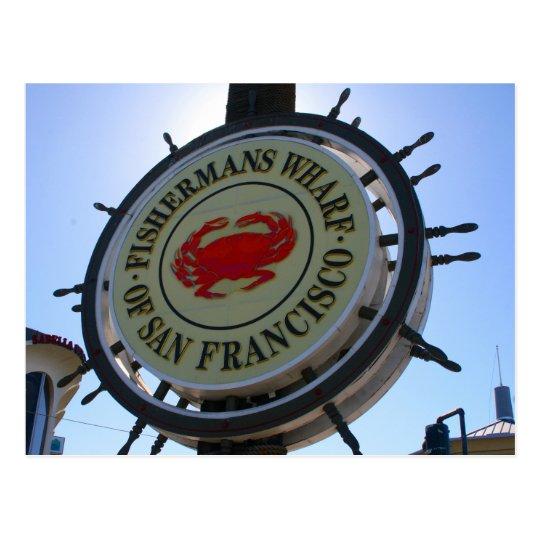 san fran wharf postcard