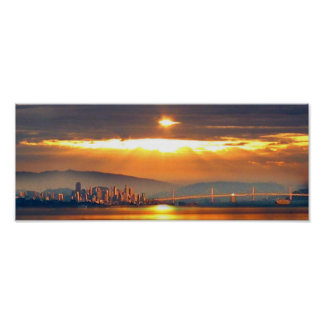San Francico Sunset Poster
