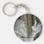 San Francis and the dove Key Chains