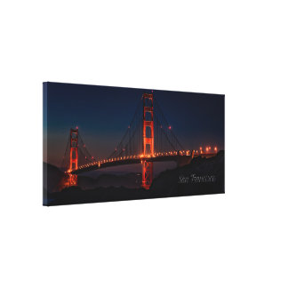 "San Francisco 14"" x 11"", 1.5"", Single Canvas Print"