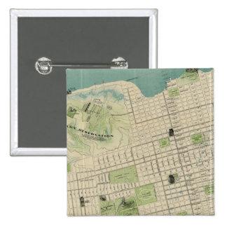 San Francisco 15 Cm Square Badge
