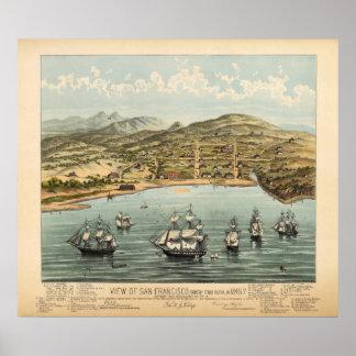 San Francisco, 1847 (Bosqui) BigMapBlog.com Poster