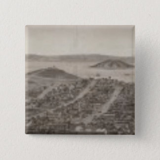 San Francisco, 1862 from Russian Hill 15 Cm Square Badge