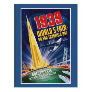 San Francisco 1939 World's Fair Vintage Postcard